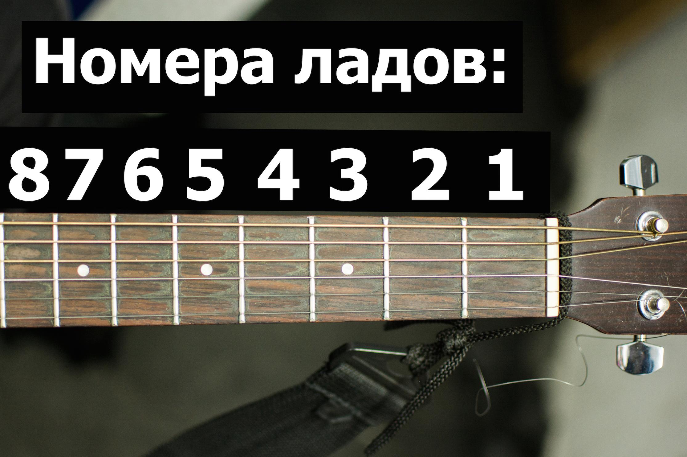 Лады на гитаре